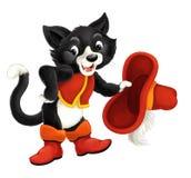 Isolerad trendig katt för tecknad film - royaltyfri illustrationer
