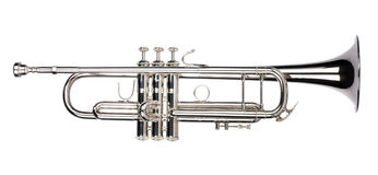 isolerad trumpet Arkivbilder