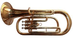 isolerad trumpet Royaltyfria Foton