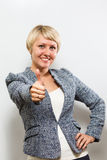 isolerad tum för bakgrund black upp 2 business woman Arkivfoton