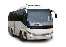 Isolerad turist- buss Arkivbilder