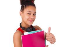 Högskolestudentbarnafrikansk amerikan Arkivbild