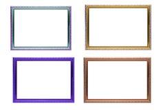 Isolerad uppsättning av färgrik ramtappningstil arkivbilder
