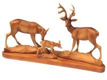 isolerad utgångspunkt för figurine för dekorhjortfamilj royaltyfri fotografi