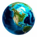 Isolerad världskartavit Royaltyfri Bild
