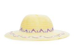 Isolerad vävd hatt Royaltyfria Foton