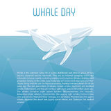Isolerad valvektorillustration Havdäggdjur på den blåa bakgrundsbilden Arkivbild