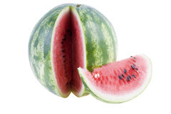 Isolerad vattenmelon Royaltyfri Foto