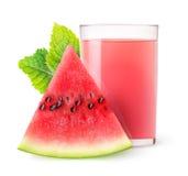 Isolerad vattenmelonfruktsaft Arkivbild