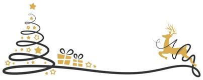 Isolerad vektor för julgranvektor teckning vektor illustrationer
