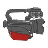 Isolerad videokamera Arkivfoton