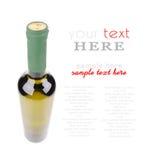 Isolerad vinflaska arkivfoto