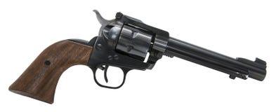 Isolerad vit bakgrund för revolver skjutvapen Royaltyfria Foton