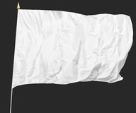 Isolerad vit flagga Royaltyfri Bild