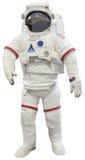 Isolerad vit för astronaut dräkt Arkivfoton