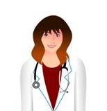 isolerad vit kvinna för bakgrund doktor stock illustrationer