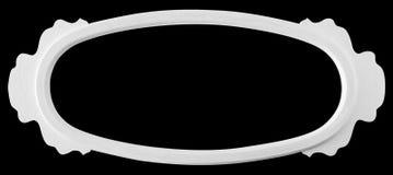 Isolerad vit ram för Retro tappning Arkivbild