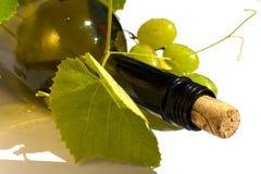 isolerad vit wine för bakgrund flaska Royaltyfri Bild