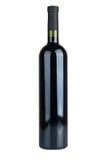 isolerad vit wine för bakgrund flaska Arkivbild