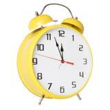 isolerad vit yellow för alarmbakgrund klocka Arkivbild
