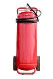 Isolerad vitbakgrund för eldsläckarebrand för bakgrund 3d isolerad white bild Arkivbild