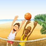 isolerad volleybollwhite för bakgrund strand Fotografering för Bildbyråer