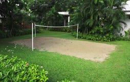isolerad volleybollwhite för bakgrund strand Arkivbilder