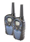 isolerad walkie för talkies två arkivfoto