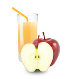 isolerad white för äpple coctail Royaltyfria Bilder