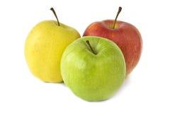 isolerad white för äpplen bakgrund Royaltyfria Bilder