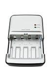 isolerad white för acumulatorbatteriuppladdare Fotografering för Bildbyråer