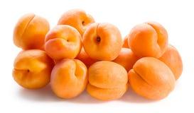 isolerad white för aprikosar bakgrund Fotografering för Bildbyråer