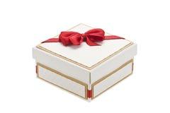 isolerad white för ask gåva Arkivbild