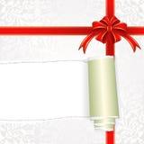 isolerad white för ask gåva Royaltyfri Bild