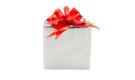 isolerad white för ask gåva Royaltyfri Fotografi