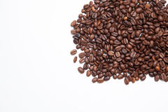 isolerad white för bönor kaffe klart bruk för bakgrundskaffe Top beskådar Arkivbild