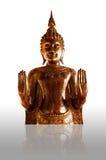 isolerad white för bakgrund buddha Royaltyfri Bild