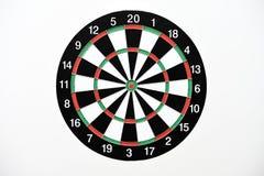 isolerad white för bakgrund dartboard royaltyfria bilder