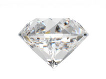 isolerad white för bakgrund diamant Royaltyfria Foton