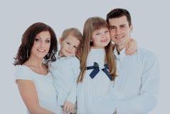 isolerad white för bakgrund familj Arkivbild