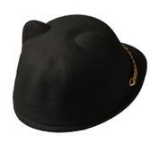 isolerad white för bakgrund hatt stucken hatt svart hatt Fotografering för Bildbyråer