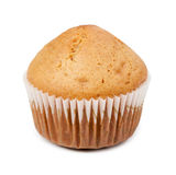 isolerad white för bakgrund muffin Arkivfoton