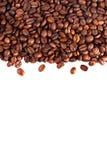 isolerad white för bakgrundsbönor kaffe Arkivfoton