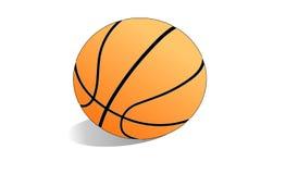 isolerad white för bakgrundsboll basket Arkivbild