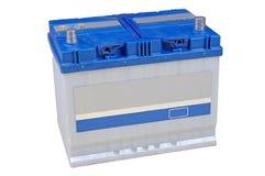 isolerad white för batteri blå bil Royaltyfri Fotografi