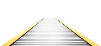 isolerad white för begrepp leverans Tom transportörlinje som isoleras på en vit illustration 3d royaltyfri illustrationer