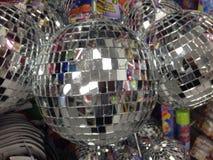 isolerad white för bollar disko Fotografering för Bildbyråer