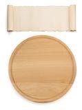 isolerad white för bräde cutting arkivfoto