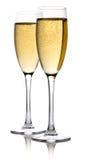 isolerad white för champagne exponeringsglas Arkivbild