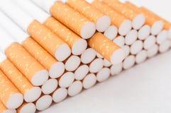 isolerad white för cigaretter closeup Fotografering för Bildbyråer